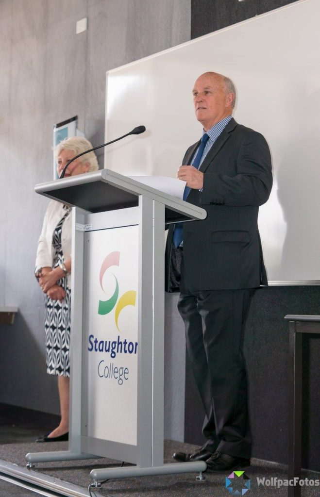 Graeme Brown, Former Executive Officer BMLLEN, Staughton College-Trade Training Centre Opening