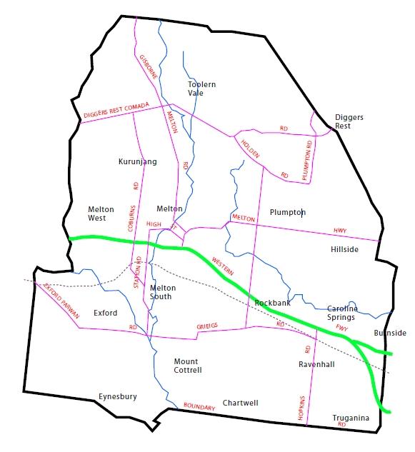 Map of Melton District